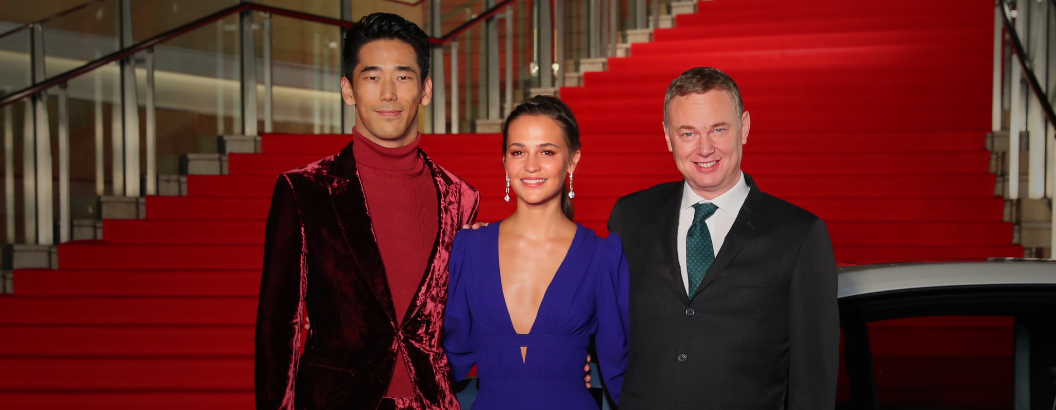 "Opening event Red Carpet, ""Earthquake Bird"" Wash Westmoreland, Alicia Vikander, Naoki Kobayashi"