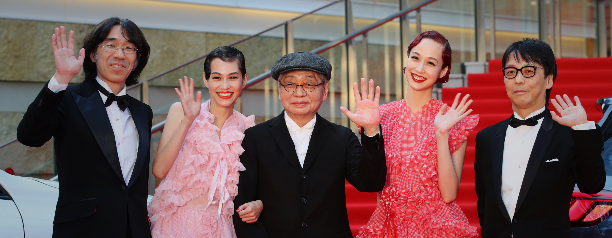 "Opening event Red Carpet, ""NO-SMOKING"" Haruomi Hosono, Kiko Mizuhara, Yuka Mizuhara"